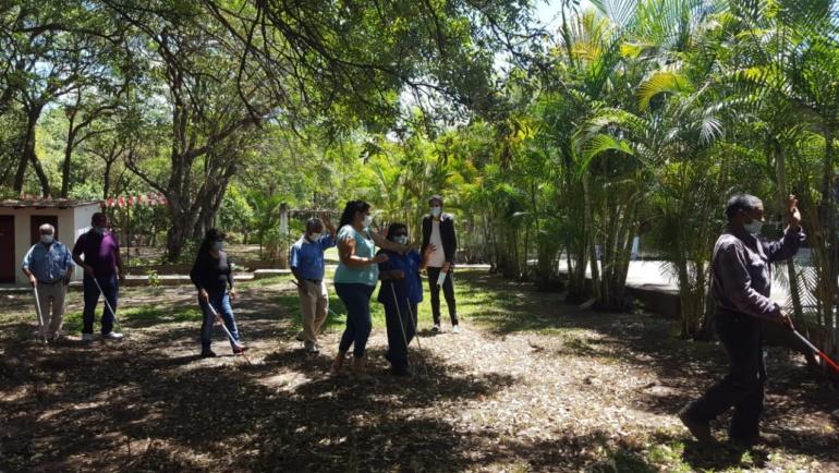 En Comayagua llevamos a cabo el II taller de Orientación y Movilidad